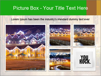 Street in a Christmas night PowerPoint Templates - Slide 19