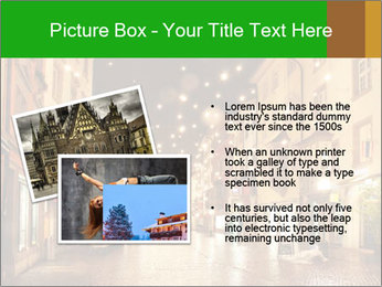 Street in a Christmas night PowerPoint Template - Slide 20
