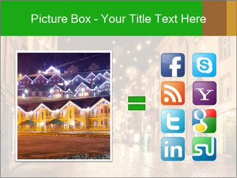 Street in a Christmas night PowerPoint Template - Slide 21