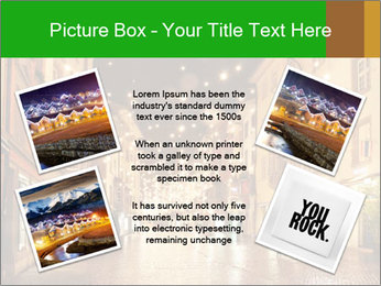 Street in a Christmas night PowerPoint Templates - Slide 24