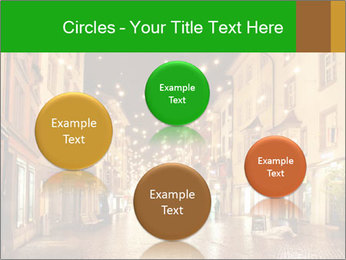 Street in a Christmas night PowerPoint Template - Slide 77