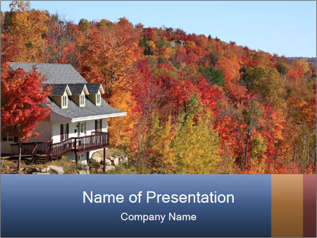 Villa in autumn PowerPoint Template