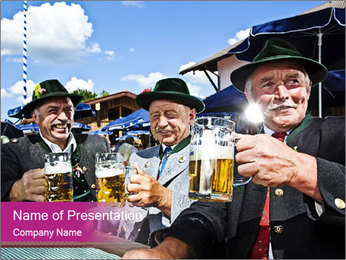 Bavaria in the beer garden PowerPoint Template