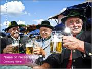 Bavaria in the beer garden PowerPoint Template