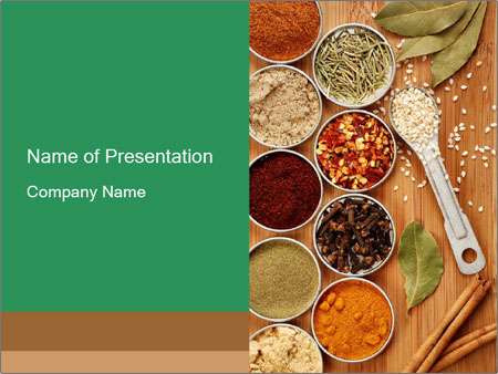 Variety of spices PowerPoint Template