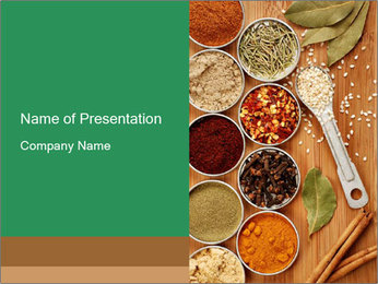 Variety of spices PowerPoint Templates - Slide 1