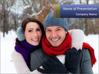 Wintertime season PowerPoint Template - Slide 1