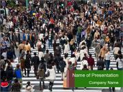 The famous scramble crosswalk PowerPoint Template