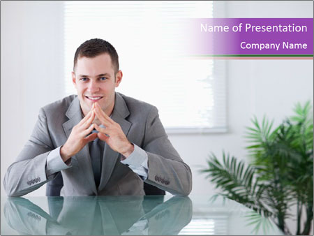 Young businessman PowerPoint Template