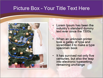 Girl helping decorating the Christmas tree PowerPoint Templates - Slide 13