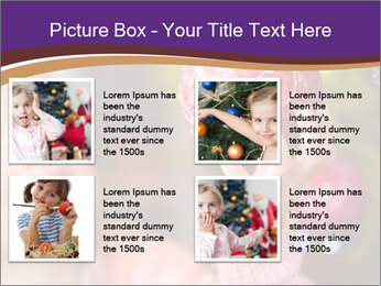 Girl helping decorating the Christmas tree PowerPoint Templates - Slide 14
