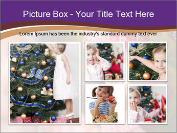 Girl helping decorating the Christmas tree PowerPoint Templates - Slide 19