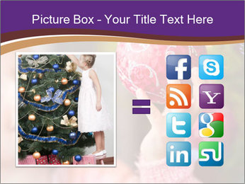 Girl helping decorating the Christmas tree PowerPoint Templates - Slide 21