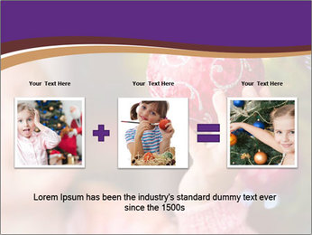 Girl helping decorating the Christmas tree PowerPoint Templates - Slide 22
