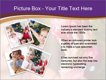 Girl helping decorating the Christmas tree PowerPoint Templates - Slide 23
