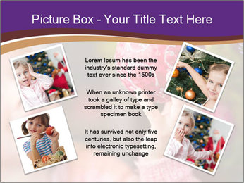 Girl helping decorating the Christmas tree PowerPoint Templates - Slide 24
