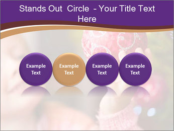 Girl helping decorating the Christmas tree PowerPoint Templates - Slide 76
