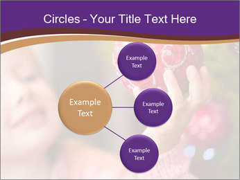 Girl helping decorating the Christmas tree PowerPoint Templates - Slide 79