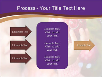 Girl helping decorating the Christmas tree PowerPoint Templates - Slide 85