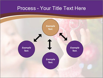 Girl helping decorating the Christmas tree PowerPoint Templates - Slide 91