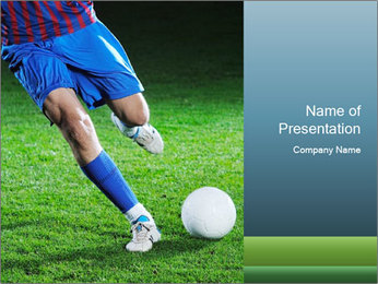 Soccer player PowerPoint Template - Slide 1