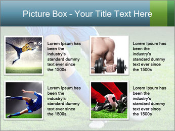 Soccer player PowerPoint Template - Slide 14