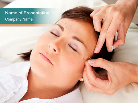 Professional acupuncturist PowerPoint Template