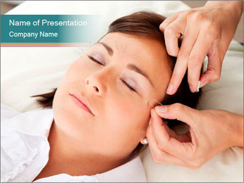 Professional acupuncturist PowerPoint Templates - Slide 1