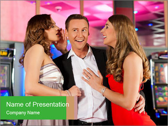 Three friends PowerPoint Template - Slide 1