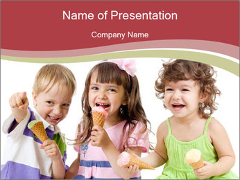 Happy children PowerPoint Template - Slide 1