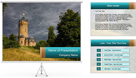Castle tower PowerPoint Template