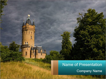 Castle tower PowerPoint Template - Slide 1