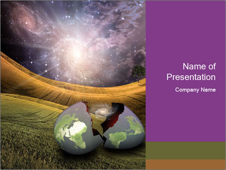 Earth egg PowerPoint Templates