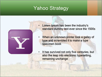 Woman jumping horse PowerPoint Template - Slide 11