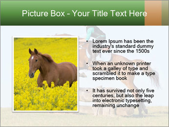 Woman jumping horse PowerPoint Template - Slide 13