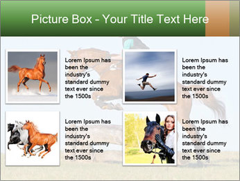 Woman jumping horse PowerPoint Templates - Slide 14