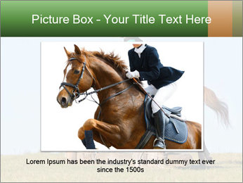 Woman jumping horse PowerPoint Template - Slide 16