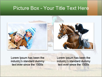 Woman jumping horse PowerPoint Template - Slide 18