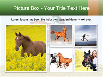 Woman jumping horse PowerPoint Templates - Slide 19