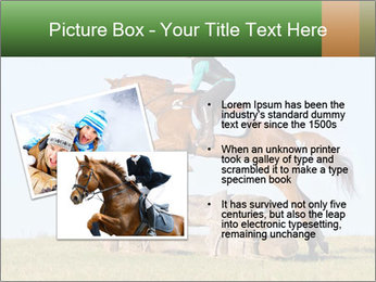 Woman jumping horse PowerPoint Template - Slide 20