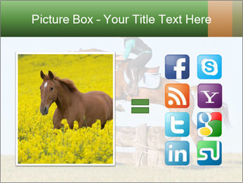 Woman jumping horse PowerPoint Templates - Slide 21