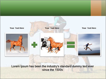 Woman jumping horse PowerPoint Template - Slide 22