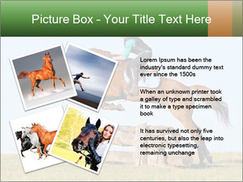 Woman jumping horse PowerPoint Template - Slide 23