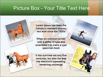 Woman jumping horse PowerPoint Templates - Slide 24