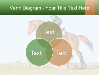 Woman jumping horse PowerPoint Template - Slide 33