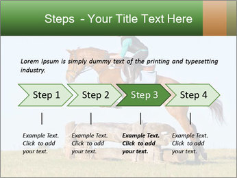Woman jumping horse PowerPoint Template - Slide 4