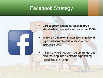 Woman jumping horse PowerPoint Templates - Slide 6