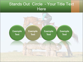 Woman jumping horse PowerPoint Template - Slide 76