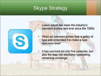Woman jumping horse PowerPoint Template - Slide 8