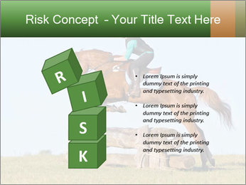 Woman jumping horse PowerPoint Template - Slide 81